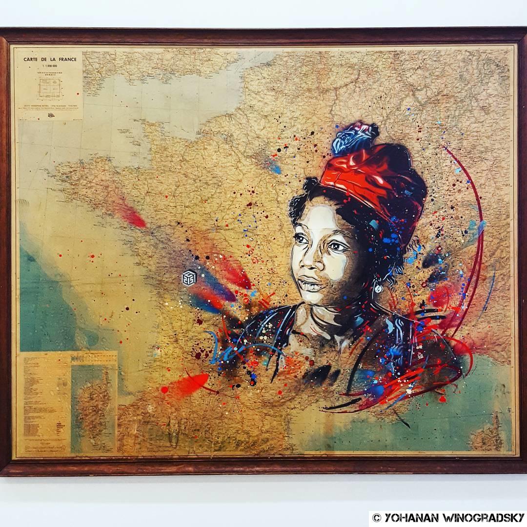 streetart vitry sur seine par c215 pou rl'exposition douce france