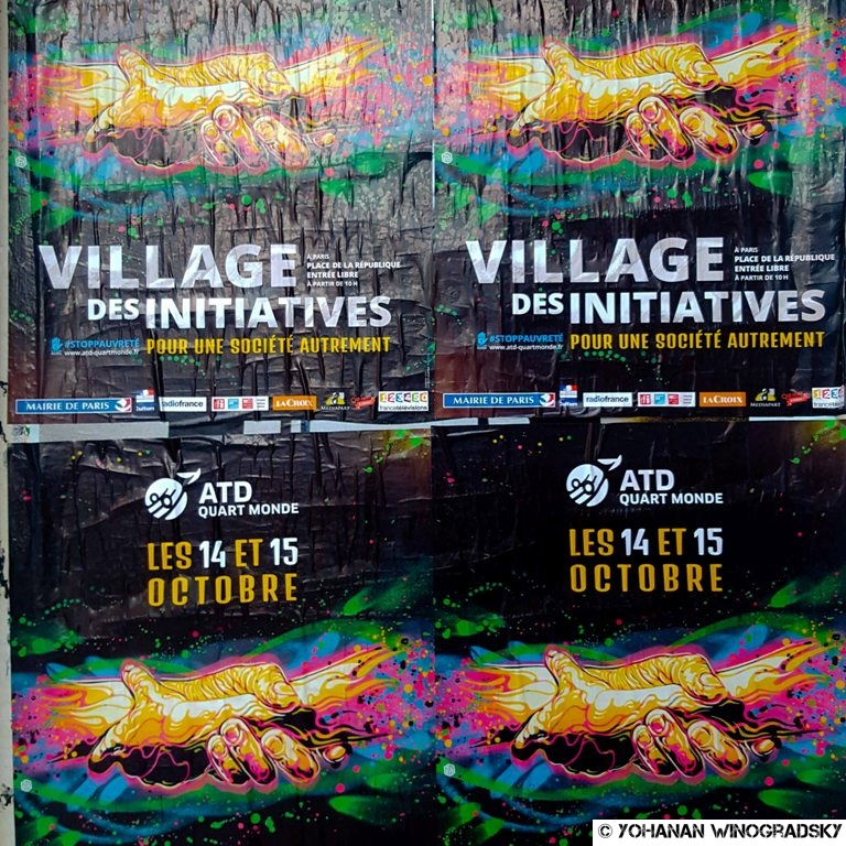 streetart paris par c215 atd quart monde village des initiatives