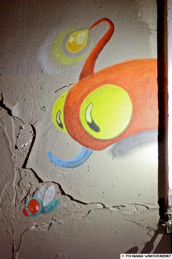 streetart paris par philouwer réalisé à la butte aux cailles