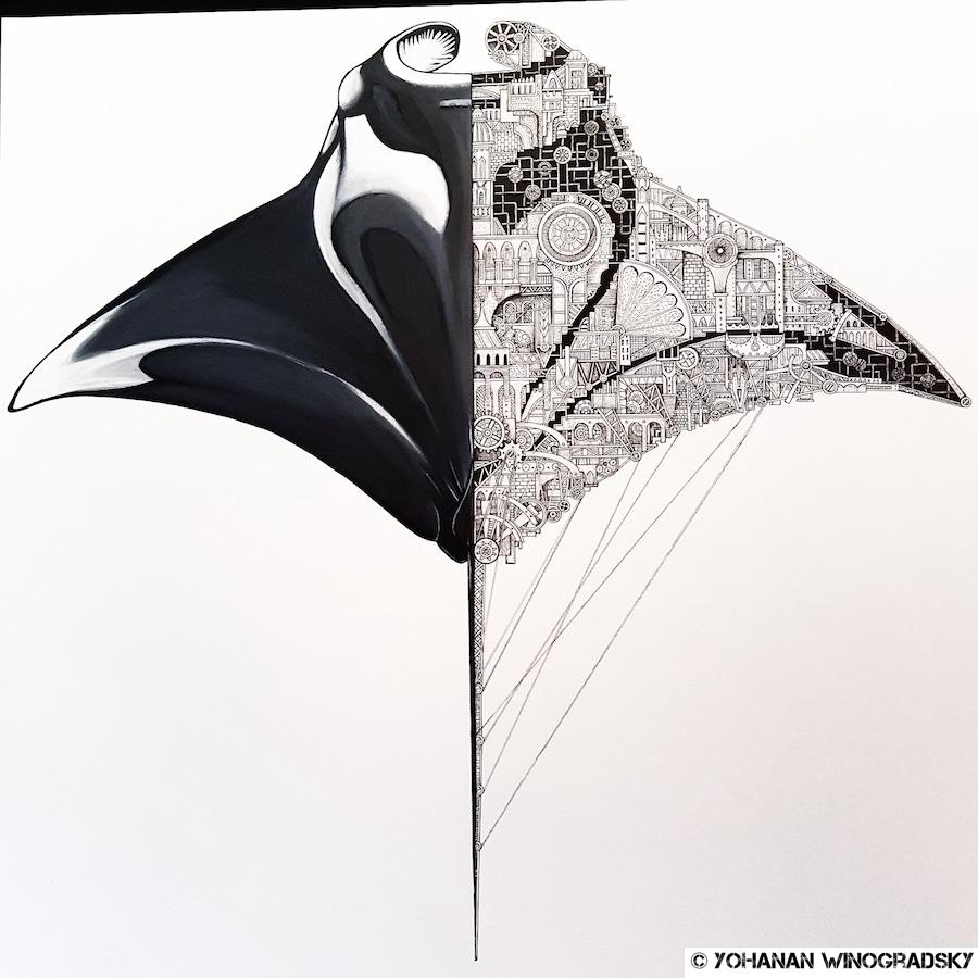 streetart paris ardif au cabinet d amateur pour l exposition mechanemo
